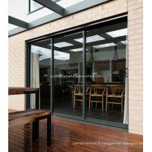 Fenêtres et portes en aluminium pliante à ventilation passive facultative