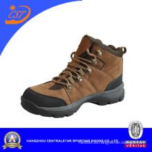 Zapatos de senderismo de camello al aire libre superior de cuero genuino (CA-02)