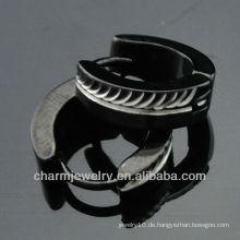 Heißer Verkauf Huggie schwarze Ohrring-Art- und Weiseschmucksache-Klippohrringe HE-100