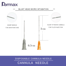 Dermal Filler Cannula Asam Hyaluronic 25g