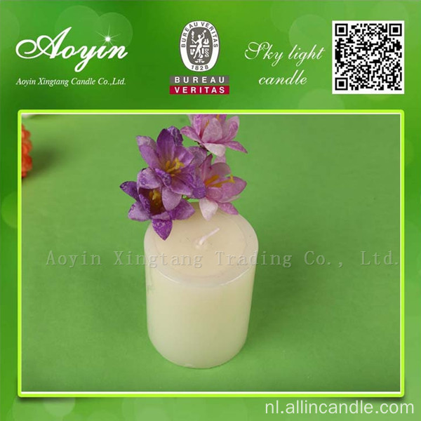 White Tearless Unscented Pillar Candle voor Turkije