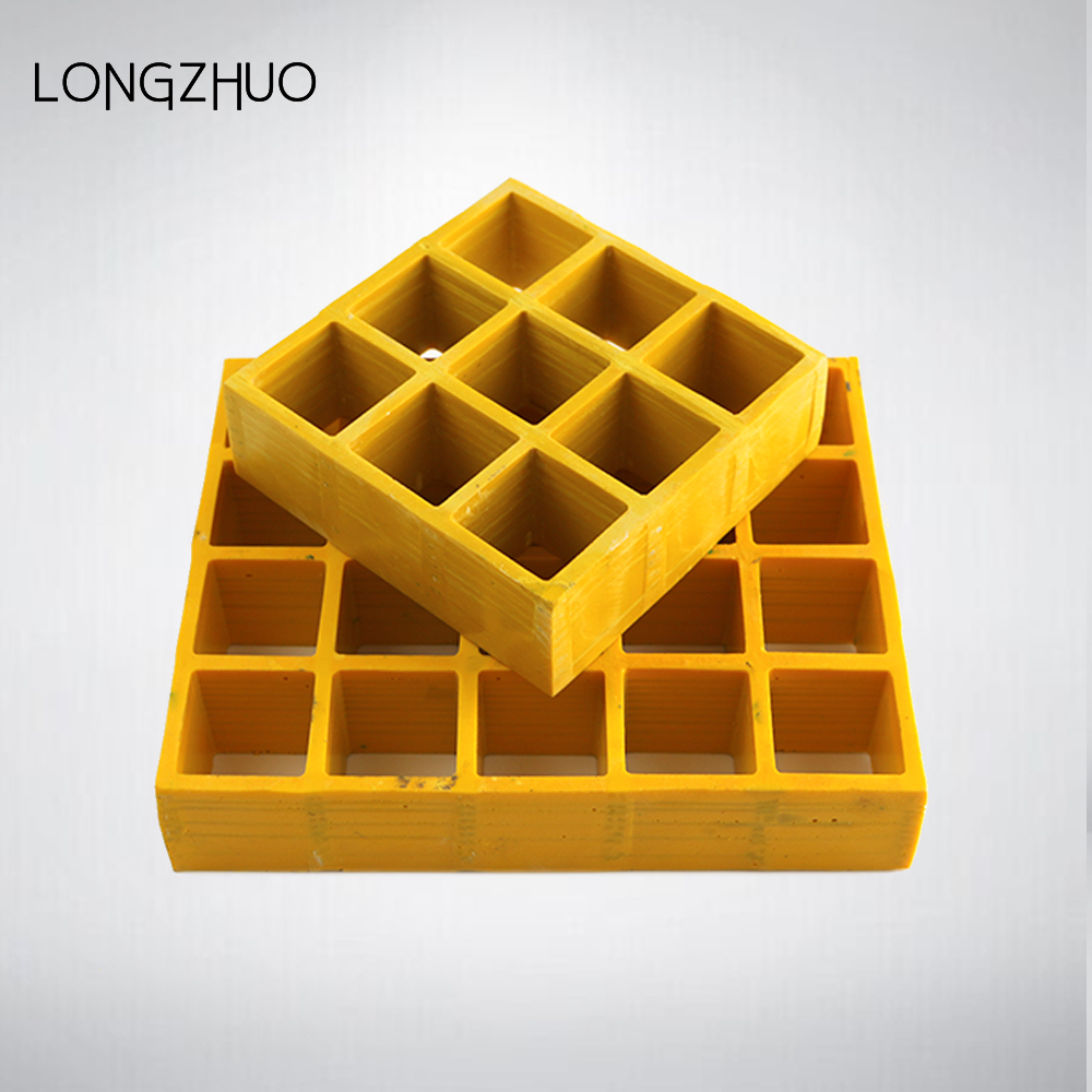 "Pultrusion FRP Fiberglass Grating 48 ""* 144"" * 1.5 ""Yellow Color"