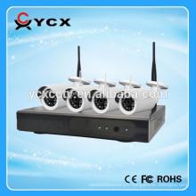 2016 Hot P2P 4CH 1.0MP 720P 2.4G Caméra IP WIFI sans fil NVR Kits pour la sécurité à domicile, support intérieur et extérieur onvif