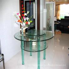 Round Clear Glass Top, Glas Ding Tischplatte für Einkäufer