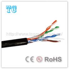 Ce сертификат Cat 5e UTP Открытый сетевой кабель