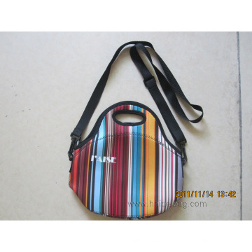 Neoprene Lunch Cooler Bag with Zipper and Handle