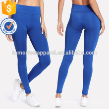 Blue Elastic Waist Skinny Leggings OEM/ODM Manufacture Wholesale Fashion Women Apparel (TA7040L)