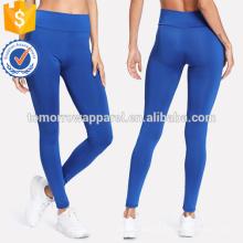 Cintura Elástica Azul Leggings Skinny OEM / ODM Fabricação Atacado Moda Feminina Vestuário (TA7040L)