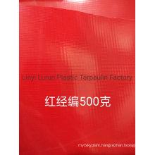High Quality Red PVC Tarpaulin 500GSM Cover Tarpaulin