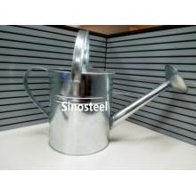 5L Galvanized Zinc Metal Watering Can for Garden, Metal Watering Pot