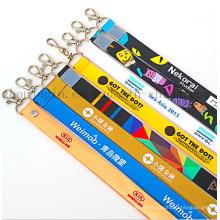 Benutzerdefinierte Logo Polyester Ausstellung Arbeit Erlaubnis Neck Ribbon Strap Lanyard