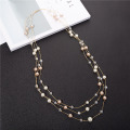 Women's Fashion Fine Jewelry 3 Strand Pearl Necklace