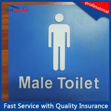 Kundenspezifisches ABS bildete öffentliche Toilette / Raum- / Achtung-Zeichen