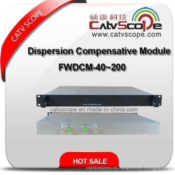 Dcm, módulo compensador de dispersión, longitud de fibra compensatoria: 40-200 km