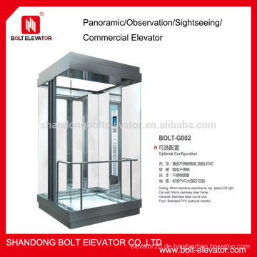 Transparenter Aufzug Transport Aufzug gebrauchte Aufzüge zum Verkauf