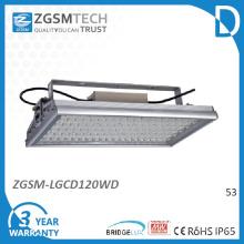 120W SMD LED haute baie Light avec couvercle en verre