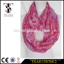 high quality silk like infinity scarve digital printed 100% polyester scarf trade assurance product