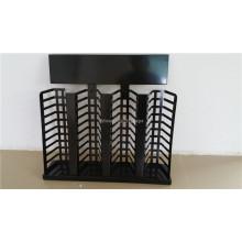 Mueble de exhibición de piedra negra del mostrador de piedra del metal Mueble de exhibición del azulejo del granito de 40 pedazos