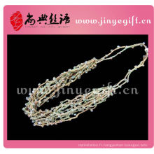 Chine Bijoux Tressé Tricoté Multi Strand String Necklace