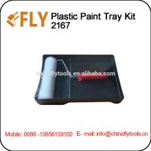 kit de bandeja de pintura plástica escova de rolo de pintura
