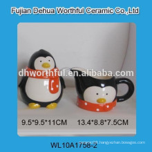 Factory directly wholesale high quality ceramic sweet candy cans with milk jug