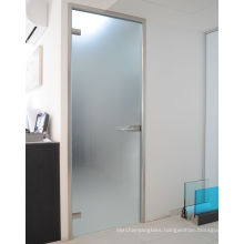 Good quality 6mm 8mm 10mm 12mm 15mm 19mm thick acid etched frosted Sandblasting Translucent Obscure tempered glass for door