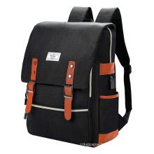 Black Water Resistant School Backpack Daypacks College School Bag Bookbags USB Port Laptop Backpack