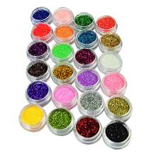 poudre de scintillement de couleur utilisée pour le clou / cosmétique / industriel