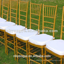 outdoor banquet stackable golden RESIN tiffany chair/chiavari chair
