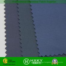 Tela de Pongee del poliester del hilado negro con la tela de punto para el abrigo externo