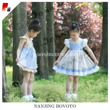 New arrival girls popular stripe dress ruffled