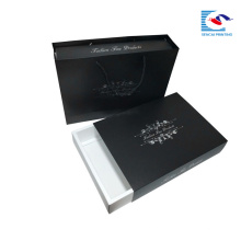 Fabrik billige schwarze schublade weiße karte Kleidung Verpackung Box benutzerdefinierte logo