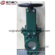Válvula de compuerta de vástago de vástago no ascendente para la industria de tratamiento de agua