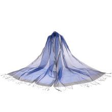 Mais nova 100% seda lenço longo para senhora