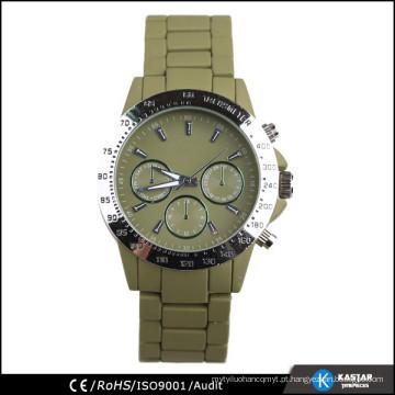 Flash pintura pulseira de liga homens relógio de aço inoxidável de volta