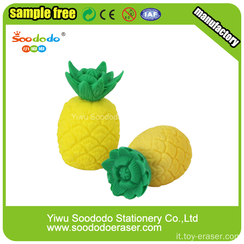Children eraser Fancy Pineapple eraser,Mini Art promotion eraser