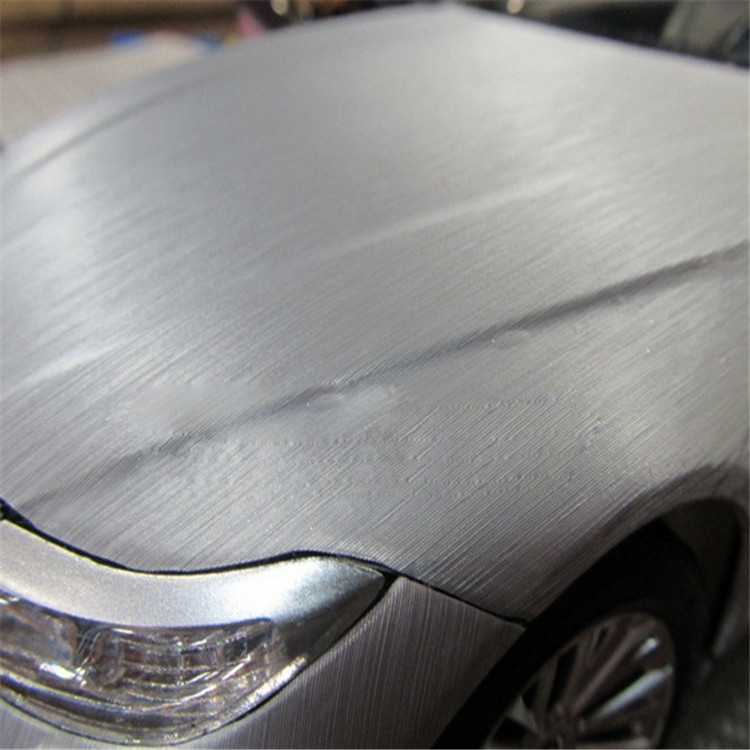 BRUSHED METALLIC PVC CAR STICKER