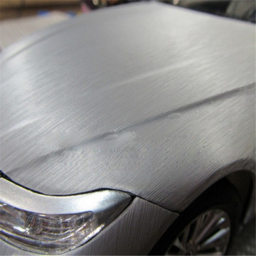Brushed Silver Car Wrap