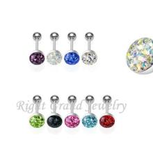 Diseño único Body Piercing joyas anillos de la lengua personalizada de fábrica