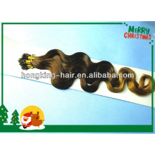 high quality two tone ombre body wave nano ring hair extension
