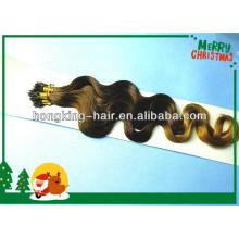 alta qualidade dois tons ombre body wave nano anel extensão do cabelo