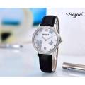 Edelstahl Automatikuhren mit echtem Leder Uhrenarmband