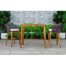 Top Selling All Weather PE Rattan Bar Set Für Outdoor Gartenmöbel