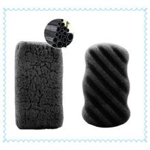 Esponja de limpeza Konjac bambu mágico rosto carvão