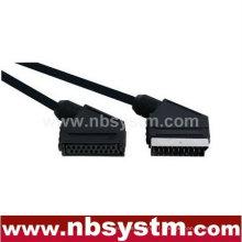 Connecteur péritel 21 broches mâle à Scart jack câble femelle 1,5 m