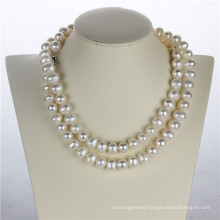 11-12mm Potato Shape White Pearl Fashion Necklace