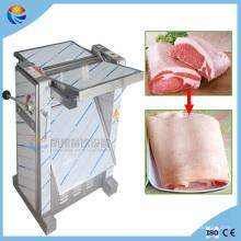 Pele de carne de porco automática removendo a máquina de processamento de casca