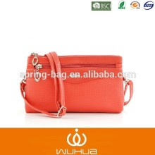wuhua 2015 new style women bag / PU woven shoulder bag for Europe and America