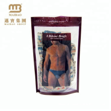 Cheap Price Custom Printing Clothing Retail Shop Man Underwear Ziplock Packaging Plastic Bag Clear
