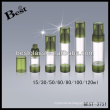 80ml round acrylic airless bottles with pp pump; 50/60/100/120ml acrylic lotion bottles with lip, acrylic bottle opener
